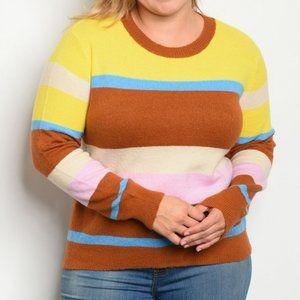 Retro Striped Sweater